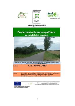Protierozní ochranná opatření v zemědělské krajině