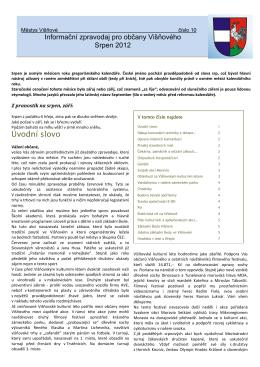 Zpravodaj č 10 - srpen 2012 T