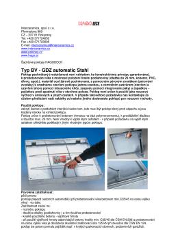 Typ BV - GDZ automatic Stahl