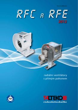 RFC a RFE, radiální ventilátory s přímým pohonem - TD