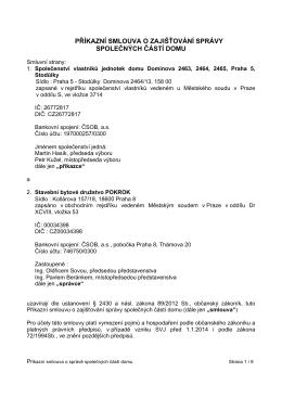 Příkazní smlouva s SBD Pokrok