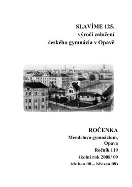 FINALE 2009 - Mendelovo gymnázium