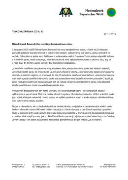 tisková zpráva cz 5 / 13 12.11.2013