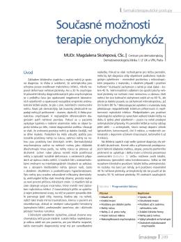 Současné možnosti terapie onychomykóz