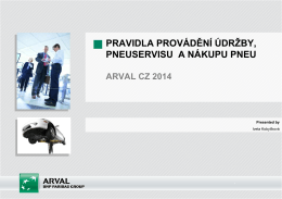 Pravidla provádění pneuservisu 2014 (PDF)