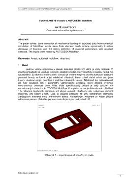 Bartecky: SPOJENI ANSYS CLASSIC S AUTODESK MOLDFLOW.pdf