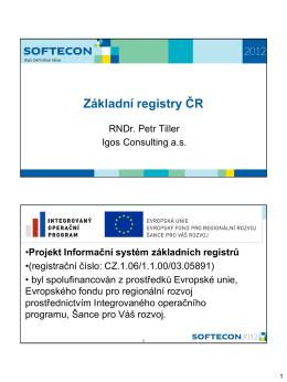 Základní registry ČR