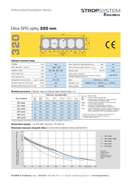 Předpjatý dutinový panel tloušťky 320 mm