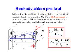 Hookeův zákon pro krut