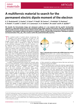 A multiferroic material to search for the permanent electric dipole