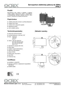 Servopohon elektrický pákový do 50Nm PPN 2