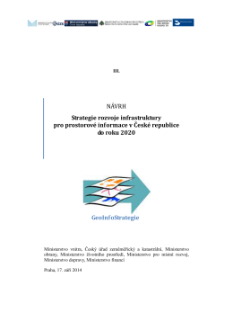 NÁVRH Strategie rozvoje infrastruktury pro prostorové informace v