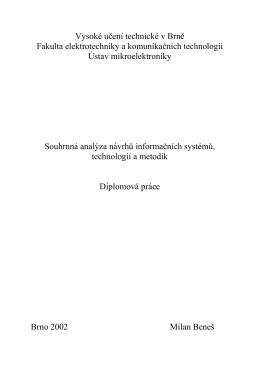 diplomová práce s názvem - Ing. Milan Beneš, Ph.D.