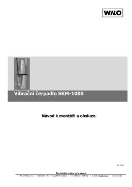 Vibrační čerpadlo SKM-1000