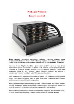 ProLogue Premium koncový monoblok