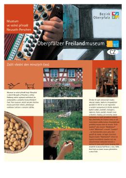 Flyer CZ Internet A4 - Oberpfälzer Freilandmuseum Neusath