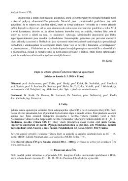 Zápis ze dne 5. 3. 2014, Praha