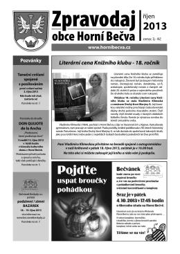 Zpravodaj ŘÍJEN ve formátu *.pdf po kliknutí ZDE.