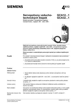 4613 Servopohony vzducho- technických klapek GCA12