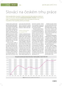 Slováci na českém trhu práce