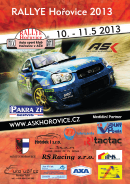 Program Rallye Hořovice 10.