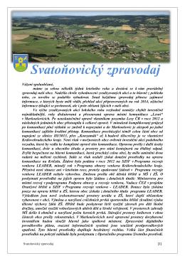 Svatoňovický zpravodaj 2014
