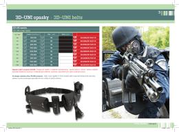 3D–UNI opasky | 3D–UNI belts