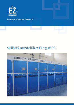 Skříňový rozvaděč řady EZB 3 kV DC