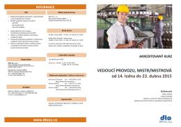 Informace o kurzu ke stažení (ve formátu PDF)