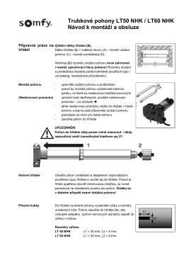 Trubkové pohony LT50 NHK / LT60 NHK Návod k montáži a obsluze