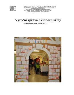 Výroční zpráva za rok 2011/2012