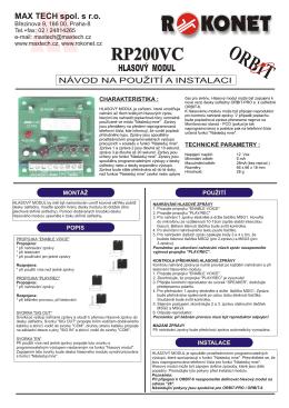 HLASOVÝ MODUL.cdr - Alarm Absolon, spol. s .ro