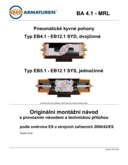 Originální montážní návod BA 4.1 - MRL