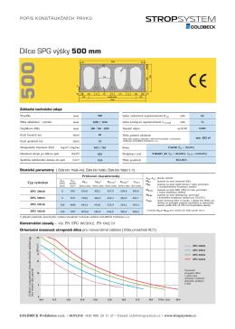 Předpjatý dutinový panel tloušťky 500 mm