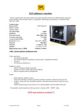Více - SPL Acoustics