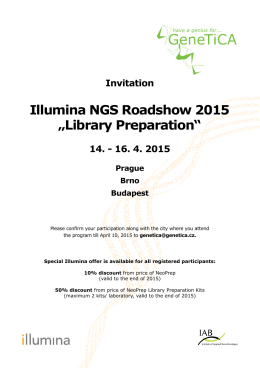 "Illumina NGS Roadshow 2015 ""Library Preparation"""