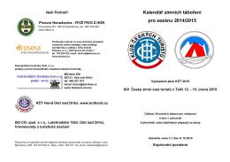 Kalendář zimních táboření pro sezónu 2014/2015