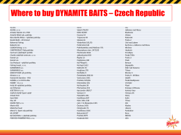 WHERE TO BUY - Dynamite Baits