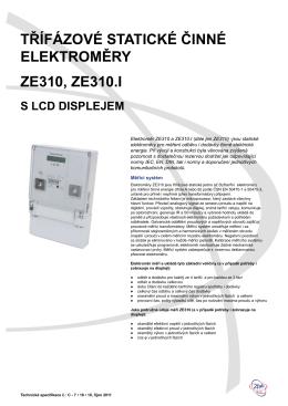 Technická specifikace ZE 310