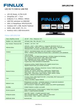 Typový list ke stažení (PDF)