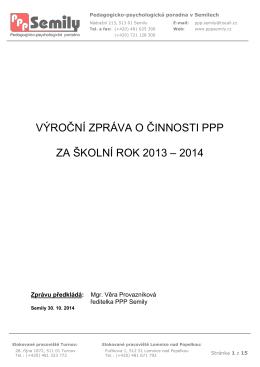 Výroční zpráva 2013/2014 - Pedagogicko