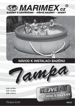 Návod pro bazén Tampa