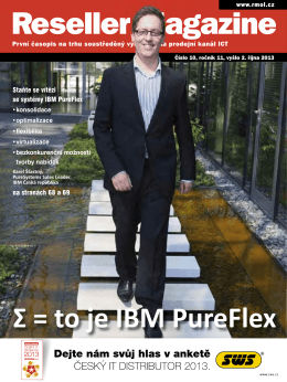Σ = to je IBM PureFlex - Reseller Magazine OnLine