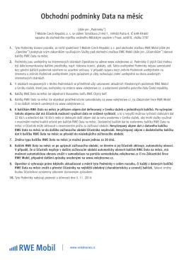 Obchodní podmínky Data na měsíc ve formátu PDF