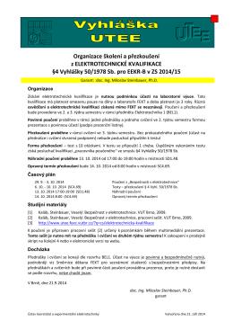 Organizace přezkoušení §4 pro EEKR