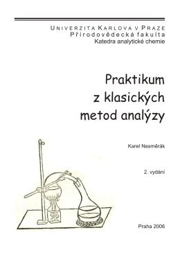 Praktikum z klasických metod analýzy