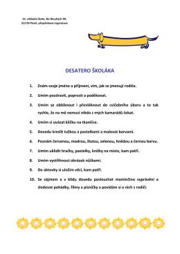 Desatero školáka (PDF)