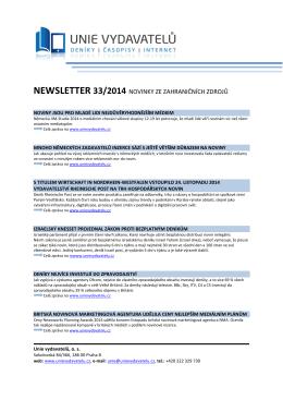 33. číslo 2014 - Unie vydavatelů