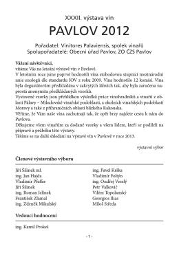 Vnitřek (pdf) - Otevřené sklepy v Pavlově