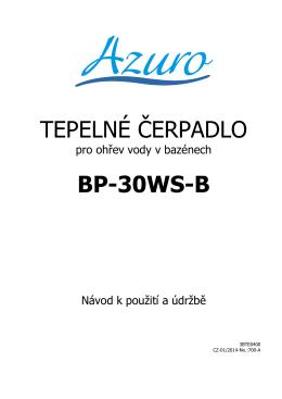 TEPELNÉ ČERPADLO BP-30WS-B